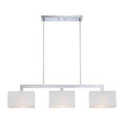 Quoizel Lighting - Quoizel REM345C Remi Polished Chrome Island Light - 3, 75W A19 Medium