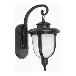 Yosemite - Yosemite FL5013 Brina 1 Light Outdoor Wall Sconce - Brina Single Light Outdoor Wall SconceAccent your outdoor lighting with this single light wall sconce. Featuring a frosted glass shade and a sturdy curled arm, this fixture makes a great addition to the outdoors.Features: