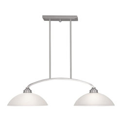 Livex - Livex 4222-91 Somerset Island Lighting in Brushed Nickel with Satin Glass - Livex 4222-91 Somerset Island Lighting in Brushed Nickel with Satin Glass.