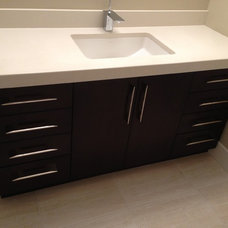 Contemporary Bathroom by Florkowskys Woodworking & Cabinets LTD