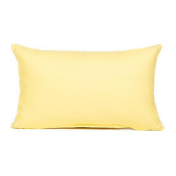 """Blooming Home Decor - Solid Yellow Accent / Throw Pillow Cover, 12""""x20"""" - (Available in 16""""x16"""", 18""""x18"""", 20""""x20"""", 24""""x24"""", 26""""x26"""", 12""""x20"""", 20""""x54"""")"""
