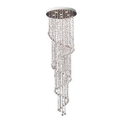 Gallery - Gallery T40-402 Modern 6 Light 1 Tier Crystal Chandelier - Features: