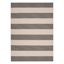 Jaipur - Solid/Striped Pura Vida 2'x3' Rectangle Stone Gray-White Ice Area Rug - The Pura Vida area rug Collection offers an affordable assortment of Solid/Striped stylings. Pura Vida features a blend of natural Stone Gray-White Ice color. Flat Weave of 100% Wool the Pura Vida Collection is an intriguing compliment to any decor.