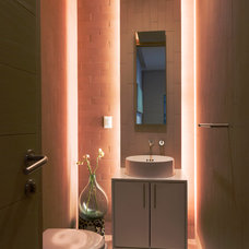 Contemporary Powder Room by PAUL CREMOUX studio