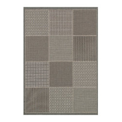 """Couristan - Monaco Vistimar Rug 2469/2213 - 2' x 3'7"""" - Perfect for an outdoor patio, deck or sunroom, the Monaco Collection is designed to convert your space to the perfect at-home escape. Pair one of these performance area rugs with your outdoor furniture to enhance any look. The subtle designs and neutral hues found in Monaco are sure to bring a relaxed ambiance to any room or space of your liking."""