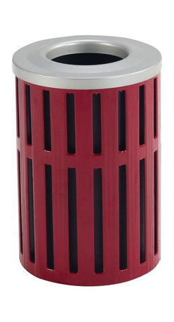 Anova Furnishings - Anova Furnishings 16 Gallon Receptacle - Latitude Style with Top and Liner - L14 - Shop for Outdoor Waste Bins from Hayneedle.com! The Anova Furnishings 16 Gallon Receptacle - Latitude Style with Top and Liner is a barrel of wonders. Take steel the monarch of metals fashion it in a modern style add a rust-resistant coating and you have a jewel among bins.About Anova FurnishingsThe history of Anova Furnishings can be traced back to 1970 when Bill Gilbert founded Clean City Squares based on a single model litter receptacle. Now the expanded Anova Furnishings offers a vast array of benches ash urns recyclers tables bike racks and other fine site furnishings. Committed not only to peak product quality but the conservation of our environment Anova Furnishings offers items constructed with recycled materials whenever possible adopts environmentally-friendly processes and works to increase the amount of products which promote recycling. Anova Furnishings is the clear choice for all of your site furniture needs and you can rest easy knowing that these products are made with the planet in mind.