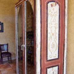 Painted Furniture Finishes & Faux Wood - Painted Cabinet for an Italian family at Tutte Fresco in Rancho Santa Margarita, CA