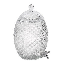 "Home Essentials Del Sol Pineapple Jug Beverage Dispenser, Clear - Pretty enough for a wedding reception, this cut crystal pineapple beverage dispenser has ""hospitality"" written all over it."