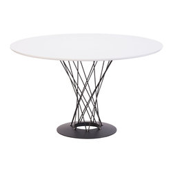ZUO MODERN - Spiral Table White - Spiral Table White