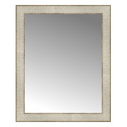 """Posters 2 Prints, LLC - 18"""" x 22"""" Libretto Antique Silver Custom Framed Mirror - 18"""" x 22"""" Custom Framed Mirror made by Posters 2 Prints. Standard glass with unrivaled selection of crafted mirror frames.  Protected with category II safety backing to keep glass fragments together should the mirror be accidentally broken.  Safe arrival guaranteed.  Made in the United States of America"""