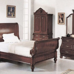 Yuan Tai Furniture - Sierra Queen Bed - 7021Q - Solid Hardwoods and wood veneers