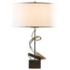 Gallery Spiral Dark Smoke Hubbardton Forge Table Lamp - Euro Style Lighting