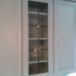 Leaded Glass - Leaded cabinet door glass with diamond bevels
