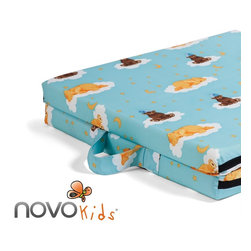 Children/Kids - NOVOkids® Fold-A-Bed is a useful as an extra guest bed, while travelling or camping. Outer cover is removable and washable. Comes in 3 fun, kid-friendly patterns. Easy folding and lightweight. Great for sleepovers!