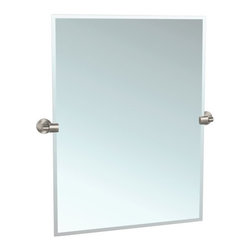 "Gatco - Gatco 4119S Satin Nickel Zone Zone 23-1/2 Inch Beveled Edge Tilting - Zone 23-1/2 Inch Beveled Edge Tilting Rectangular Wall MirrorThe finest in fashion bath, kitchen and home accessories. From traditional to contemporary, offering a variety of designer collections to compliment your style. Choose from many bathroom accessories such as towel bars, mirrors, grab bars, shower curtain rods, hooks, and free standing and counter top accessories.Simple lines, perfect planes equal elegant living. Zone offers extreme simplicity in every element and detail. Truly less is more with this Minimalist Design.Features:Titling Wall MirrorBeveled GlassRectangular MirrorSpecifications:Width: 23.5""Height: 31.5"""