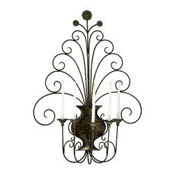 Cyan Design - Cyan Design Scroll Wall Candleholder in Antique Flemish - Scroll Wall Candleholder in Antique Flemish