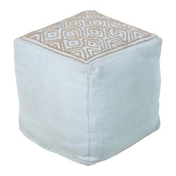 Beth Lacefield - Beth Lacefield POUF-209 Pouf - This square pouf offers a fresh design and bright colors that will add sophistication and visual interest to any room. Made in India of mostly Linen, this product is durable and priced right.