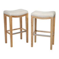 Great Deal Furniture - Berger Backless Barstool ( Set of 2 ) - The Berger bar stool combines elegance and structure. This stool is a perfect transitional piece for your kitchen to your living room.