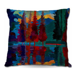 DiaNoche Designs - Pillow Woven Poplin - Colorado Sunset - Toss this decorative pillow on any bed, sofa or chair, and add personality to your chic and stylish decor. Lay your head against your new art and relax! Made of woven Poly-Poplin.  Includes a cushy supportive pillow insert, zipped inside. Dye Sublimation printing adheres the ink to the material for long life and durability. Double Sided Print, Machine Washable, Product may vary slightly from image.