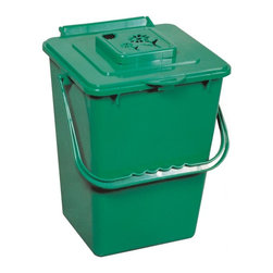 Exaco - Exaco Eco Kitchen Compost Pail - ECO 2000 - Shop for Garden Equipment from Hayneedle.com! The Canadian-made Exaco Eco Kitchen Compost Pail is as serious as you are about recycling food waste and naturally enriching soil. Much more streamlined than the 5-gallon bucket many of us start out with this holds a sizable 2.4 gallons yet fits in the dishwasher. You can easily open and close the lid with one hand and it seals tightly to reduce odor. When it's time to take it out a convenient handle works in your favor. A carbon filter system keeps compost odors from corrupting the delicious aromas that ought to waft from your kitchen. The included filter will mightily reduce odors for 3 months.About Exaco USAExaco USA Ltd. is a family-owned company based in Austin Texas that introduced the Exomixer paint mixing blade to the U.S. market in the late 1980s. The company has been a vendor to major home center chains and national distributors for 17 years providing a variety of innovative products for your yard and outdoor living.
