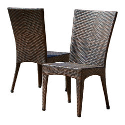 Great Deal Furniture - Solana Outdoor Wicker Chairs (Set of 2) - Provide extra seating outdoors for your friends and family with the Solana Outdoor Wicker Chair. This chair provides comfortable seating for you in any outdoor, pool or patio area. Rugged enough for daily use while comfortable enough for extended sitting. The Solana set arrives fully assembled and ready to use.