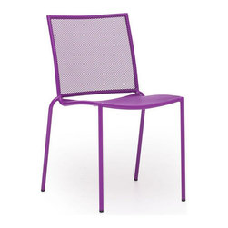 Zuo Modern - Zuo Repulse Bay Chair in Purple [Set of 4] - Repulse Bay Chair in Purple by Zuo Modern Funky and fun, the Repulse chair will add flare to any space. Frame is made from 100% epoxy coated steel durable in any climate. Chair (4)