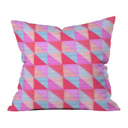 DENY Designs - Hadley Hutton Floral Tribe Collection 2 Outdoor Throw Pillow - Do you hear that noise? it's your outdoor area begging for a facelift and what better way to turn up the chic than with our outdoor throw pillow collection? Made from water and mildew proof woven polyester, our indoor/outdoor throw pillow is the perfect way to add some vibrance and character to your boring outdoor furniture while giving the rain a run for its money. Custom printed in the USA for every order.
