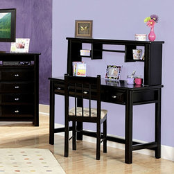 Chelsea Home Furniture - Chelsea Home Student 3 Drawer Desk and Chair - Black Cherry - CHEL2060 - Shop for Childrens Desks from Hayneedle.com! Homework goes haute in the Chelsea Home Student 3 Drawer Desk and Chair - Black Cherry. Its all-in-one setup makes decorating easy its simple storage solutions solve some of homework s toughest problems and its sleek deep black cherry finish is ultra-stylish. The desk crafted with solid pine boasts a spacious worktop and three storage and supply drawers. The coordinating stick-back chair is made with durable Ponderosa pine and topped with a cushy padded seat.About Chelsea Home FurnitureProviding home elegance in upholstery products such as recliners stationary upholstery leather and accent furniture including chairs chaises and benches is the most important part of Chelsea Home Furniture's operations. Bringing high quality classic and traditional designs that remain fresh for generations to customers' homes is no burden but a love for hospitality and home beauty. The majority of Chelsea Home Furniture's products are made in the USA while all are sought after throughout the industry and will remain a staple in home furnishings.