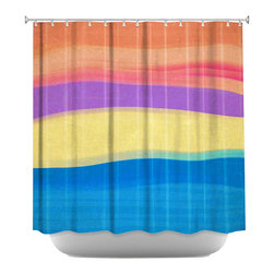 DiaNoche Designs - Shower Curtain Artistic - Skies The Limit IV - DiaNoche Designs works with artists from around the world to bring unique, artistic products to decorate all aspects of your home.  Our designer Shower Curtains will be the talk of every guest to visit your bathroom!  Our Shower Curtains have Sewn reinforced holes for curtain rings, Shower Curtain Rings Not Included.  Dye Sublimation printing adheres the ink to the material for long life and durability. Machine Wash upon arrival for maximum softness on cold and dry low.  Printed in USA.