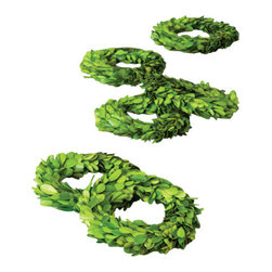 Park Hill - Mini Perserved Boxwood Wreaths (set of 6) - Set of six.