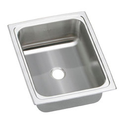 Elkay - Elkay Pacemaker BPSFR1215 Single Basin Drop In Kitchen Sink Multicolor - 731656 - Shop for Kitchen from Hayneedle.com! Your heart may skip a beat when you see how luxurious the Elkay Pacemaker BPSFR1215 Single Basin Drop In Kitchen Sink looks in your kitchen. The perfect complement to any design style the classic stainless simplicity of this sink is ideal for a prep sink or place to wash fruits and veggies. Easy top-mount installation and sound-deadening properties make it as functional as it is beautiful.About Elkay Elkay sinks faucets and accessories are the American standard. Elky has been family owned since 1920. What started as a father and son sink manufacturing company on the north side of Chicago has grown to become an international company and America s number one selling stainless steel sinks company as well as a name well-known for top-quality faucets water coolers and drinking fountains. Elkay is the professional s choice.