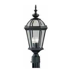Kichler Lighting - Outdoor Post Mt 3Lt - Kichler Lighting 9951BK  in Black (Painted)