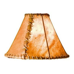 """Mathews & Company - Rawhide 14"""" Table Lamp Shade - Our Rustic style Rawhide 14"""" Lamp Shade is a beautiful piece of hand-crafted accent on any lamp base."""
