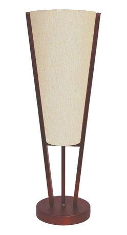 Dainolite - Emotions Table Lamp, Oil Brushed Bronze, Flax Fabric - -Main Body Material: Fabric