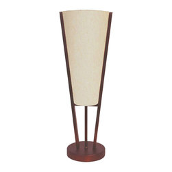 Dainolite - Emotions Table Lamp, Oil Brushed Bronze, Flax Fabric - -Main Body Material: Fabric