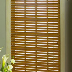 "Levolor 2"" Nuwood Faux Wood Blind - These blinds are simple, good looking, durable and come in a variety of colors so you can add some color to your windows."