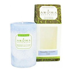 Aroma Naturals Pillar Candle - Tranquility - 2.5 Inches X 4 Inches - Aroma Naturals Pillar Candle - Tranquility - 2.5 Inches X 4 Inches