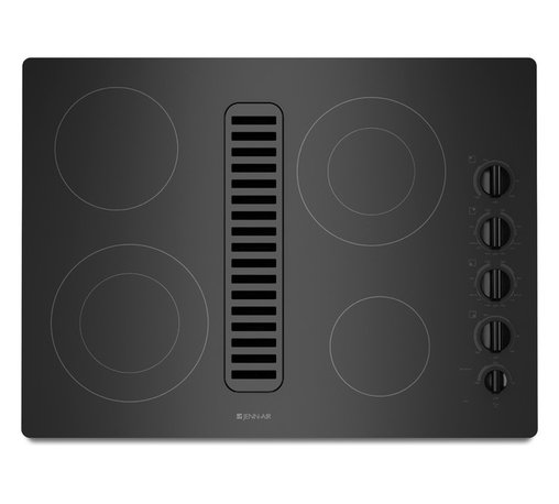 "Jenn-Air 30"" Electric Radiant Downdraft Cooktop, Black On Black 