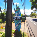 Custom mailbox support - As I grew up painting surfboards in the surf industry I am very familiar with the materials which allows me an easy handling of repurposing surfboards into upcycled sculptural elements.