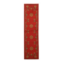 EORC - OS5110RD Red Arabella Rug, 2'7 x 9'10 - Add a touch of style to any room with this fun Arabella rug.