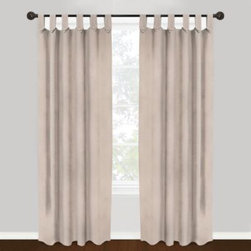 Park B. Smith - Park B. Smith Vintage House 100% Cotton Brighton Tab Top Window Curtain Panels - These chambray canvas panels easily hang with tab tops. The tab tops feature stylish, attractive buttons.