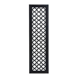 "Benzara - Black and White Wooden Wall Panel with Fine Attention to Details - Black and White Wooden Wall Panel with Fine Attention To Details. Add sophistication and opulence to your decor with this unique wooden wall. It comes with a dimension of 72""H x 20""W x 1""D."