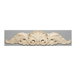 Hafele - Carved Shell Onlay - Hand carved. Warranty: One year. Made from maple. Unfinished. 20 in. W x 4.25 in. HOur deep assortment of coordinated decorative hardwood accents, appliques and onlays, ornaments, moldings, corbels and posts are the perfect compliment to your project. A variety of wood species ensures that decorative elements combine seamlessly with casework, cabinets and architectural millwork.