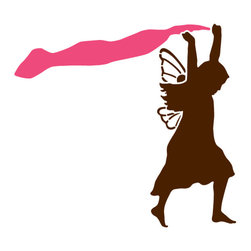 My Wonderful Walls - Fairy with Fabric Stencil for Painting - - Fairy with dandelion seed stencil