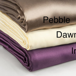 Barska - Aus Vio Silk Luxury Sheets and Pillowcases - Sleep in luxury and comfort with the Aus Vio sheets and pillowcases available in a dawn,pebble and iris finish. Constructed of a 100-percent mulberry silk,these pieces are machine washable for easy care and repeated use.