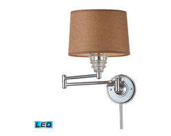 ELK Lighting - ELK Lighting 66804-1-LED Insulator Glass Polished Chrome Wall Sconce - ELK Lighting 66804-1-LED Insulator Glass Polished Chrome Wall Sconce