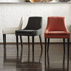 dining chairs and benches by West Elm
