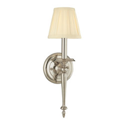 Hudson Valley Lighting - Hudson Valley Lighting 5201-PN Jefferson 1 Light Wall Sconce, Polished Nickel - This 1 light Wall Sconce from the Jefferson collection by Hudson Valley Lighting will enhance your home with a perfect mix of form and function. The features include a Polished Nickel finish applied by experts. This item qualifies for free shipping!