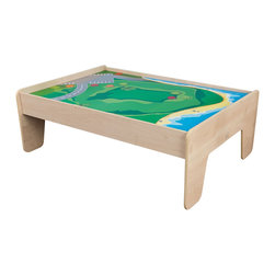 "KidKraft - Kidkraft Home Indoor Kids Playroom Decorative Train Table - Natural - KidKraft's train table is kid-sized for hours of effortless fun. With a wide, generous play table, our train table has several unique features. Dimension: 49.5""Lx 35""Wx 17.5""H"
