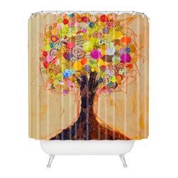 DENY Designs - Elizabeth St Hilaire Nelson Summer Tree Shower Curtain - Who says bathrooms can't be fun? To get the most bang for your buck, start with an artistic, inventive shower curtain. We've got endless options that will really make your bathroom pop. Heck, your guests may start spending a little extra time in there because of it!